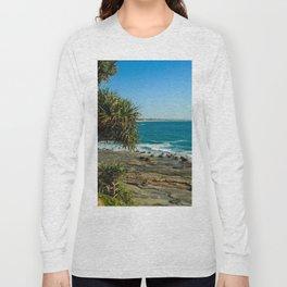 Pandanus Palms- Moffat Beach, Australia Long Sleeve T-shirt