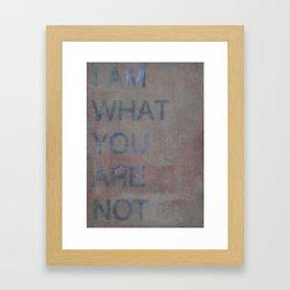 Unseen Framed Art Print