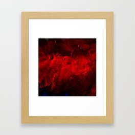 Red And Black Luxury Abstract Gothic Glam Chic by Corbin Henry Framed Art Print