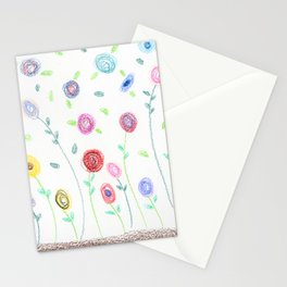 Doodle: blossoms Stationery Cards