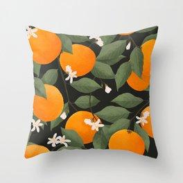 fresh citrus // dark Throw Pillow
