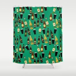 Funny Alcohol Botles Shower Curtain