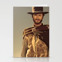 clint eastwood Stationery Cards featuring Clint Eastwood by Thousand Lines Ink