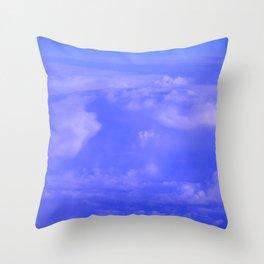 Aerial Blue Hues IV Throw Pillow
