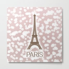 Paris: City of Light, Eiffel Tower Metal Print