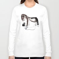 lions Long Sleeve T-shirts featuring LIONS by Valeria Kondor