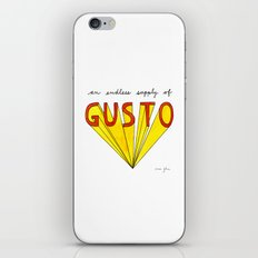 an endless supply of gusto iPhone & iPod Skin