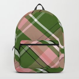 Pink and Green Preppy Plaid Backpack