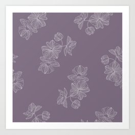 Purple Floral  Art Print