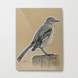 State Bird Series: Florida - Mockingbird Metal Print