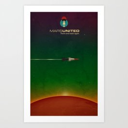Mars United In Flight Art Print