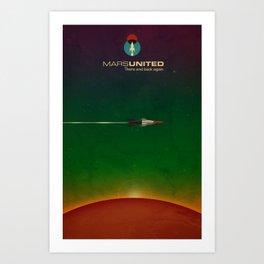 Mars United In Flight Art Print