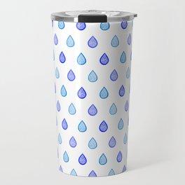 Blue raindrops Travel Mug