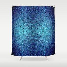 Deep blue glass mosaic Shower Curtain
