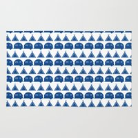 camping Area & Throw Rugs featuring camping  by fiona duke designs