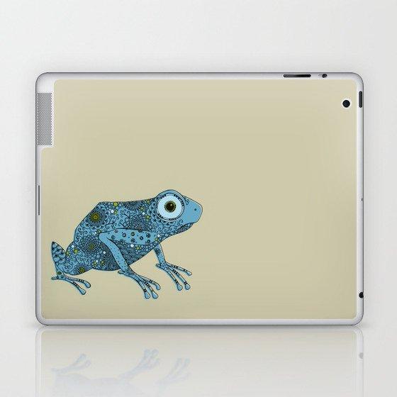 Little blue frog Laptop & iPad Skin