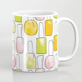 Nail Polish | Yellow Green Peach Pattern Coffee Mug
