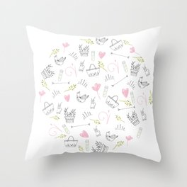 The simple things By Lisa Callear Throw Pillow