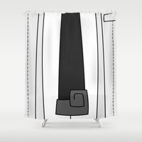 soul eater Shower Curtains featuring Soul Eater Evans Spartoi Uniform by Bunny Frost