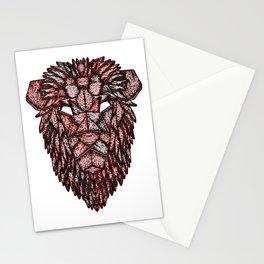 Lion Mask Stationery Cards
