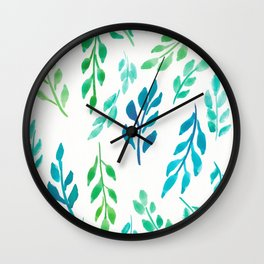 180726 Abstract Leaves Botanical 19|Botanical Illustrations Wall Clock