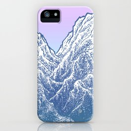"遠望 series -""Valley"" - Linocut iPhone Case"
