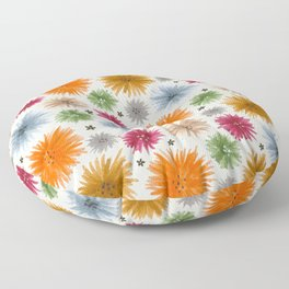 poofy foral Floor Pillow