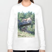 lions Long Sleeve T-shirts featuring Lions by Art I Am