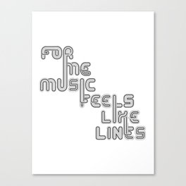 """Type and Music """"Vinyl Disc"""" Canvas Print"""