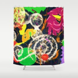 Swirled Shower Curtain