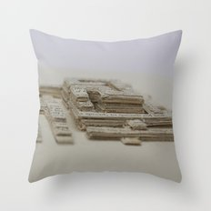 Book Art Maze Throw Pillow