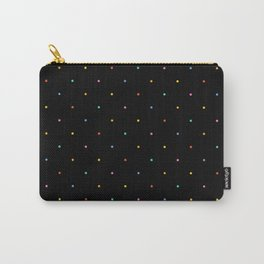 Happy Dots on Black Carry-All Pouch