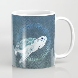 Green Sea Turtle Wreath Coffee Mug