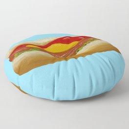 Blue Dog Floor Pillow