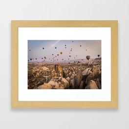 Flight above the mountains Framed Art Print
