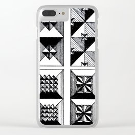 Engraved Patterns Clear iPhone Case