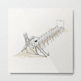 On Paper: Doorway Metal Print