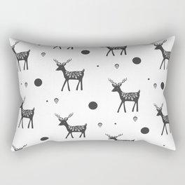 Random Frolicking fawns Rectangular Pillow