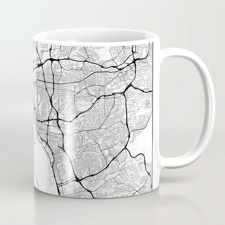 Minimal City Maps - Map Of San go, California, United States ... on