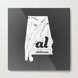 Alabama Metal Print