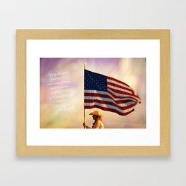 Pledge of Allegiance Framed Art Print