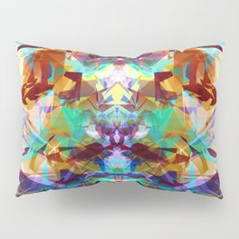 Chemical Symmetry Abstract Print Pillow Sham