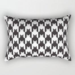 Cats Dog Tooth Pattern Rectangular Pillow