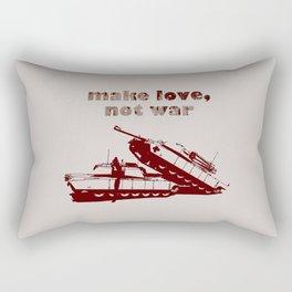 Make love, not war! Rectangular Pillow