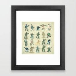 Broken Army Framed Art Print