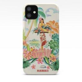 Vintage Hawaiian Travel Poster iPhone Case