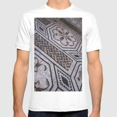 Roman Tiles Mens Fitted Tee MEDIUM White
