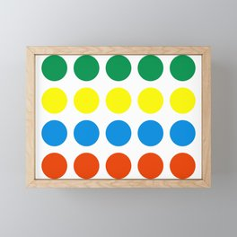 Stretch Dot Game Framed Mini Art Print