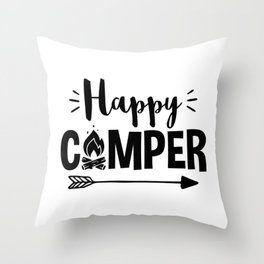 Love to Camp Camping Design Throw Pillow