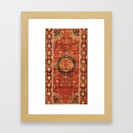 Seley 16th Century Antique Persian Carpet Print Framed Art Print